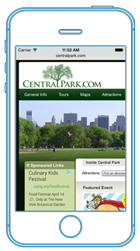 Central Park Desktop website