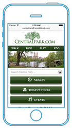 Central Park Mobile website