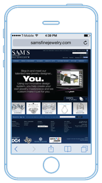Sams Jewelry Desktop website