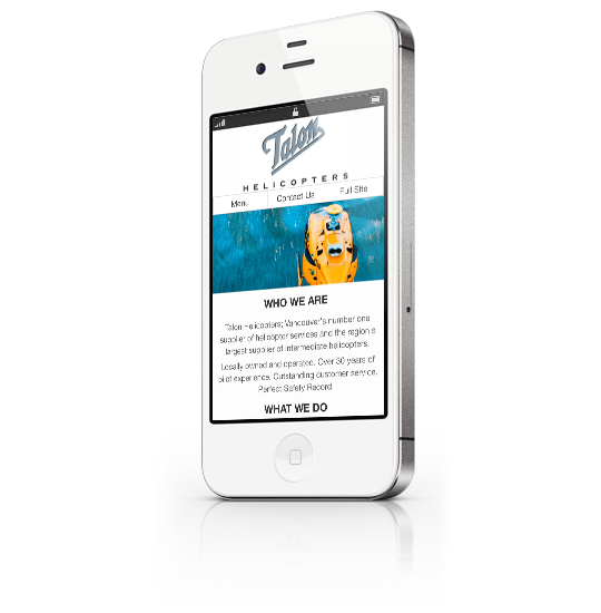 iPhone White Optimized Mobile Website